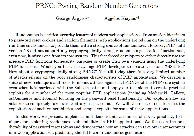 prngCDAR17 slides