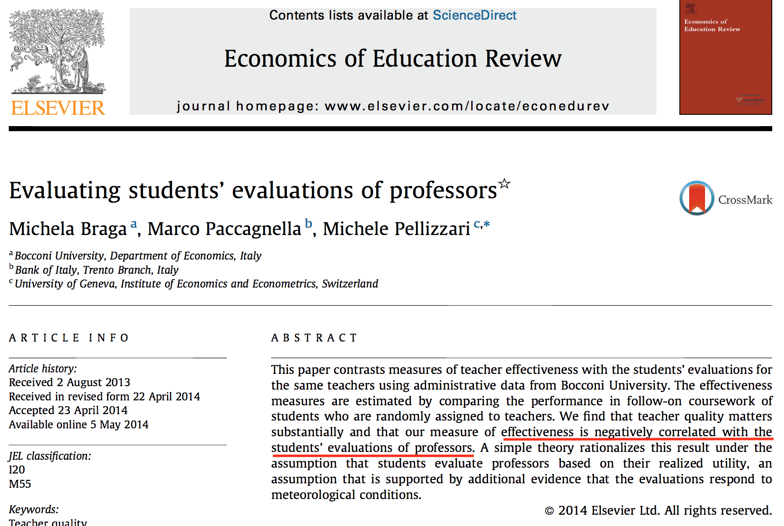 Student Evaluations, Quantifauxcation, and Gender Bias